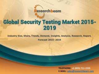 Global Security Testing Market 2015-2019