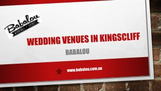 Wedding Venues In kingscliff