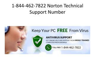 Call 1-844-462-7822 @ Norton Technical Support Number