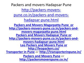 Packers and Moevrs Hadapsar Pune