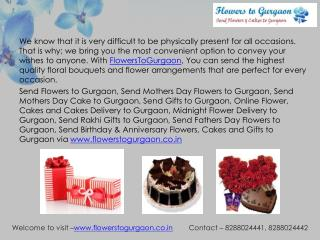 Send Online Flowers to Gurgaon