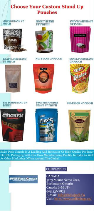 Choose Your Custom Stand Up Pouches