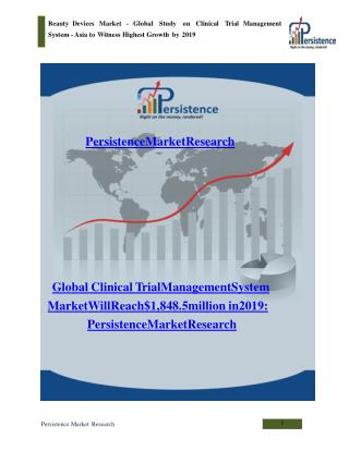 Global Clinical Trial Management System Market to 2019