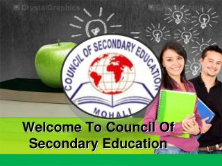 Welcome To Council Of Secondary Education