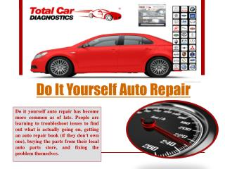 Do It Yourself Auto Repair