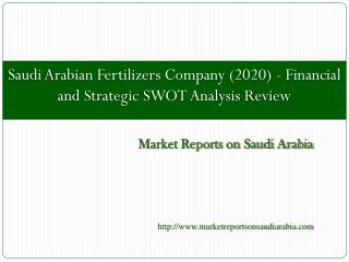 Saudi Arabian Fertilizers Company (2020)