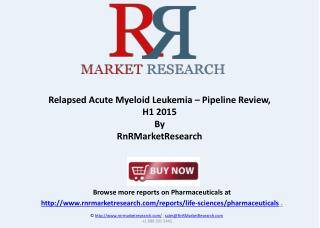 Relapsed Acute Myeloid Leukemia Market Analysis Report 2015