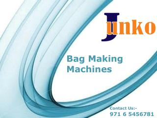 Bag Making Machines and Packaging Materials Suppliers
