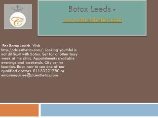 Botox Leeds - www.claesthetics.com