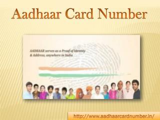 Aadhaar Card Number