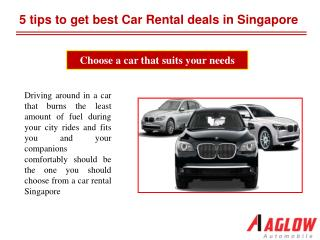 5 tips to get best Car Rental deals in Singapore