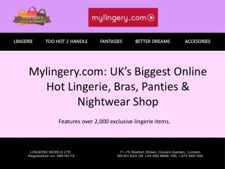 Mylingery.com Hot lingerie shop uk