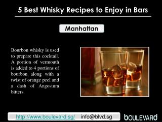 5 Best Whisky Recipes to Enjoy in Bars