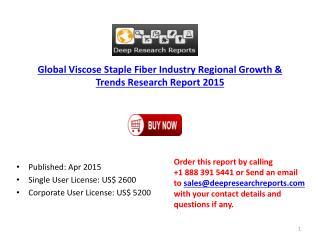 Global Viscose Staple Fiber Market Regional Growth & Trends