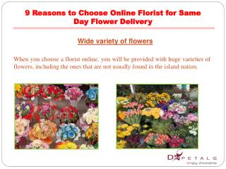 9 Reasons to Choose Online Florist for Same Day Flower Deliv
