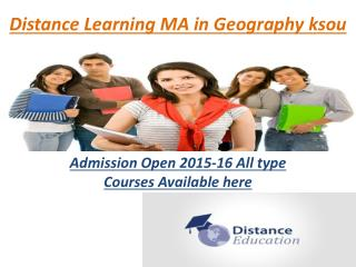 Distance Learning Courses MA in Geography In Noida