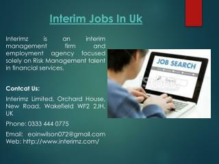 Interim Jobs In Uk
