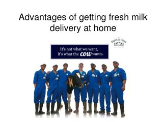 Advantages of getting fresh milk delivery at home