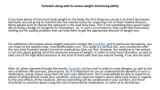 verified forskolin