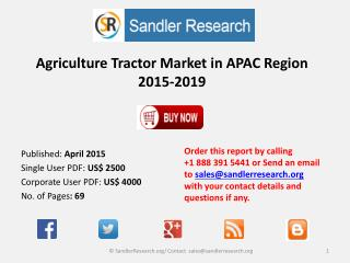 Agriculture Tractor Market in APAC Region 2015-2019
