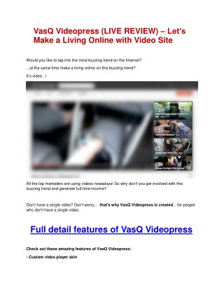 Video Motion Pro software ultimate review and $12000 BONUSES