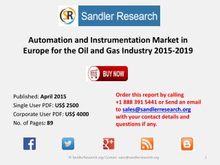 Automation and Instrumentation Market in Europe 2019