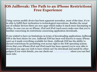 iOS 8 Jailbreaking Technique
