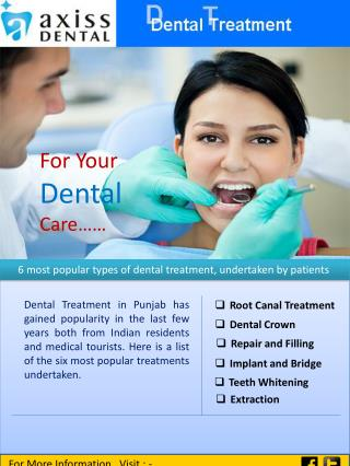 6 Most Popular Types of  Dental Treatment in Punjab