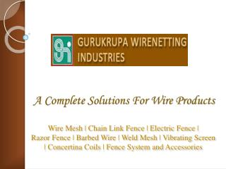 Concertina Coils Manufacturers | Razor Wire Concertina Suppl