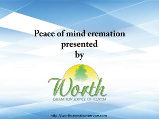 Peace of mind cremation