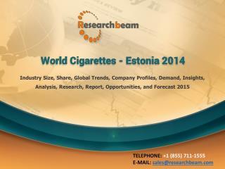 World Cigarettes - Estonia 2014