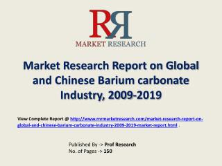 Barium carbonate Industry 2015-2019 Global and Chinese Resea