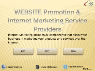 WEBSITE Promotion & Best Internet Marketing Service Provider