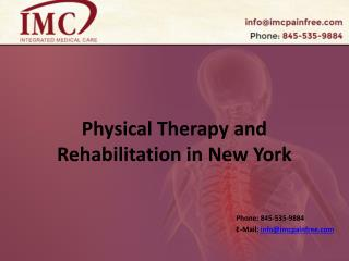 Physical Therapy and Rehabilitation in New York