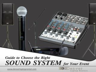 Sound System Rental Denver - Guide to Choose!