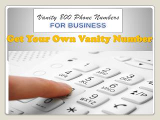 Get Your Own Vanity Phone Number