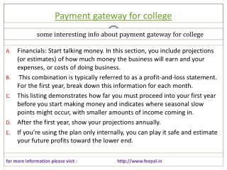 Quintessential Information about payment gateway for college