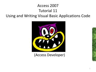Access 2007 Tutorial 11 Using and Writing Visual Basic Applications Code