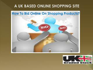 How To Bid Online On Shopping Products