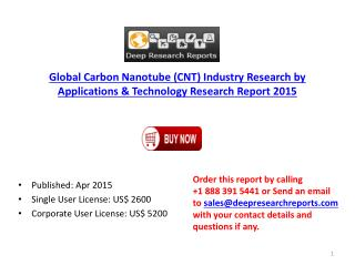 Global Carbon Nanotube Industry Share, Size & Policy Researc