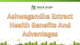 Ashwagandha Extract Health Benefits And Advantages