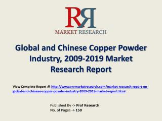 Copper Powder Industry 2019 Forecasts for Global and Chinese