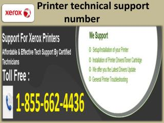 #1 855 662 4436 Xerox Printer Technical Support--Printer Not
