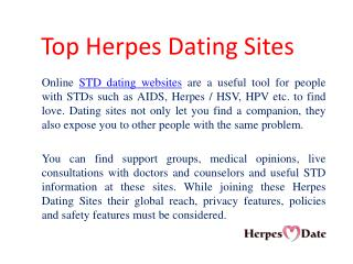 Top Herpes Dating Websites