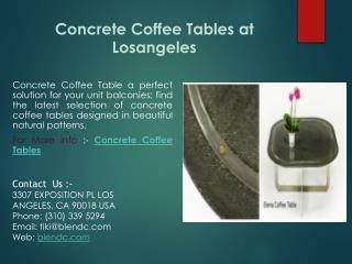 Concrete Coffee Tables at Losangeles