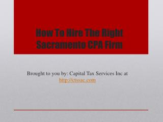 How To Hire The Right Sacramento CPA Firm