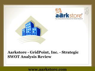 Aarkstore - GridPoint, Inc. - Strategic SWOT Analysis Review