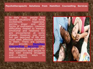 Hamilton Counselling Services