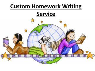 Custom Homework writing
