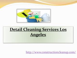 Detail Cleaning Services Los Angeles